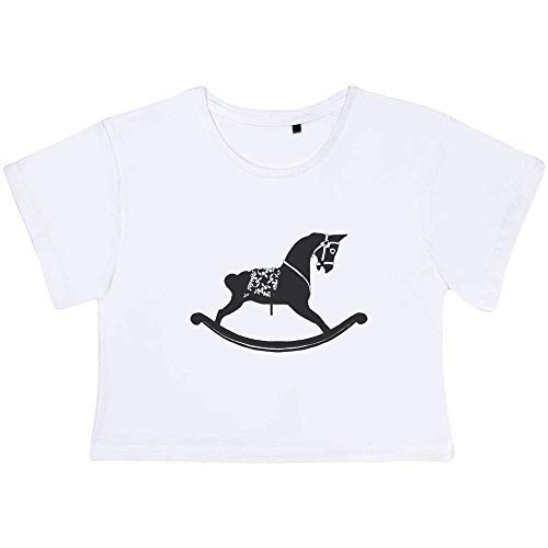 'Rocking Horse' Adult's Cotton Crop Top (Small) (CO00005790)