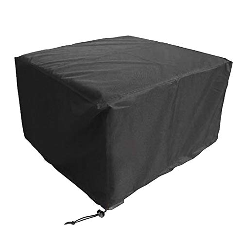WXFN Rectangular Garden Table Cover Breathable Oxford Fabric Garden Furniture Cover for Square Tables Sofa Daybed Chairs Black,350 * 260 * 90cm