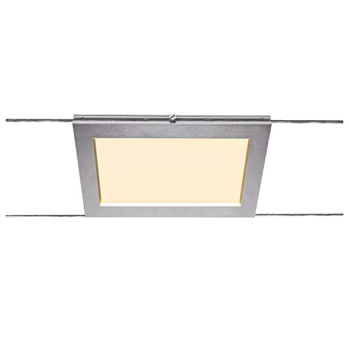 SLV Seilsystem Leuchte PLYTTA rectangular / Strahler, LED-Spot, Decken-Strahler, Decken-Leuchte, Innen-Beleuchtung / 2700K 9.8W 750lm chrom