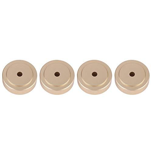 Mxzzand Pies de Almohadillas amplificadoras de aleación de Aluminio 30 * 10 mm 4 Piezas duraderas para Altavoz Amplificador(Gold)