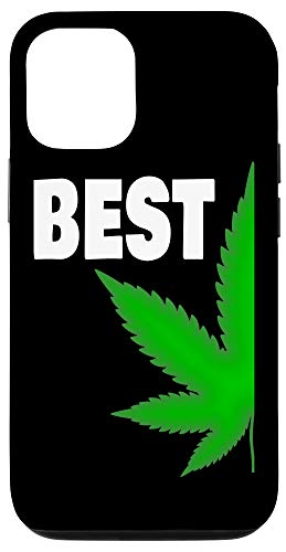 iPhone 12/12 Pro Couples Matching Best Buds BFF Marijuana Leaf Weed Gift Case