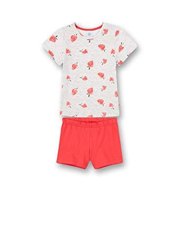 Sanetta Mädchen Schlafanzug kurz grau Pyjamaset, Light Grey, 140