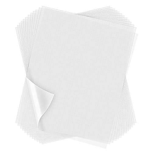 100 Sheets Wash Away Embroidery Stabilizer Water Soluble Embroidery Topping Film Transparent Water Soluble Stabilizer for Embroidery and Topping (12 x 10 Inch/ 30 x 25 cm)