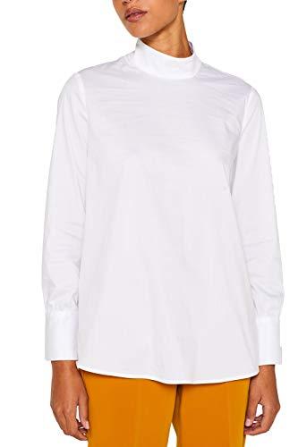ESPRIT Collection Damen 109EO1F021 Bluse, Weiß (White 100), (Herstellergröße: 42)