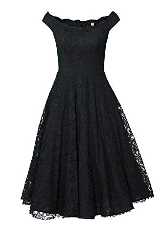 Ashley Brooke Heine Spitzenkleid m. Petticoat, schwarz Gr 34 40 44 46 48 Kleid (44)