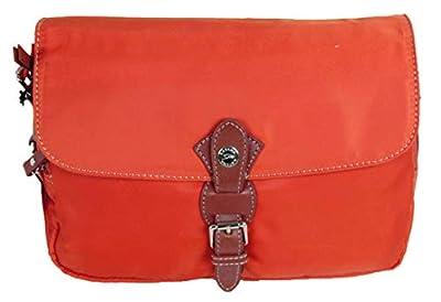 Katana sac besace en microfibre garni cuir réf 29301 (orange)