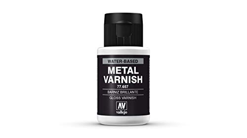 Acrylicos Vallejo Metal Color - Vernice Protettiva per Pigmenti Metallizzati, 32 ml, Trasparente (Gloss Varnish)