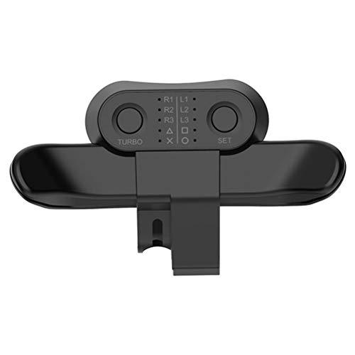 Pysod Extensor de clip trasero para PS4, consola de juegos extendida con adaptador de llave turbo, palanca de mando USB extendida con botón trasero de gamepad, equipo de juego móvil