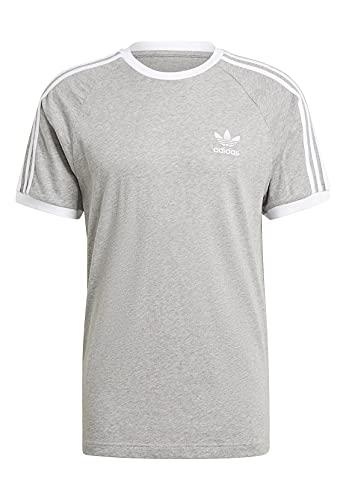 adidas Herren 3-stripes Tee T Shirt, Medium Grey Heather, L EU