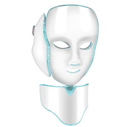 Macchina 7Colors LED Mask Face, macchina professionale di ringiovanimento della pelle di rimozione della grinza del collo di bellezza professionale domestica(UE 110-240 V)