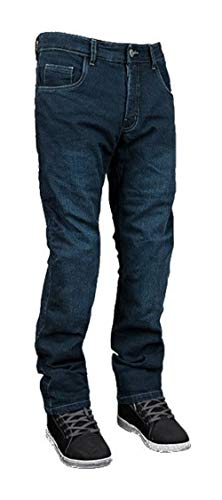 Street & Steel Oakland Protective CE Armor Aramid Fiber Boot Cut Stretch Denim Street Bike Motorcycle Riding Jeans - Dark Blue 40