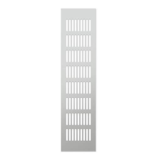 ATEYC Rejillas De Ventilación, Malla Transpirable De Aleación De Aluminio, Ventilación De Ventilación De Plano Rectangular, Armario, Cubierta De Refrigeración Decorativa (Incluye 4 Tornillos)