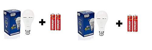 PHILIPS 9W B22 LED Cool Day Light Bulb, Pack of 2, (929002237513-PK2)