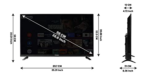 Westinghouse 98 cm (40 Inches) Full HD Smart Certified Android LED TV WH40SP50 (Black) (2021 Model)