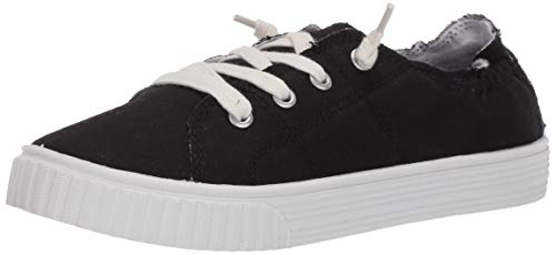 Madden Girl Women's Marisa Sneaker, Black Fabric, 8.5 M US