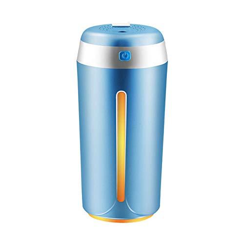 ZLAHY Humidificador 380ML Humidificador de Aire ultrasónico USB Aromaterapia Difusor de Aceite Mini purificador de Aire Atomizador Home Mist Maker con 7 Luces de Colores, Azul
