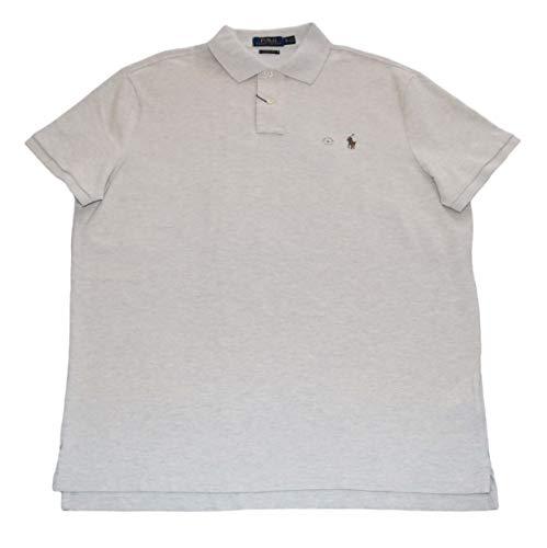 Polo Ralph Lauren Men Classic Fit Mesh Polo Shirt, Light Grey Heather (X-Large)