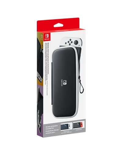 Funda Nintendo Switch OLED + 2 protectores de pantalla