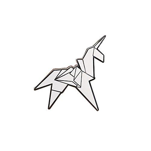 GuDeKe Broche de Pin Unicornio de Origami