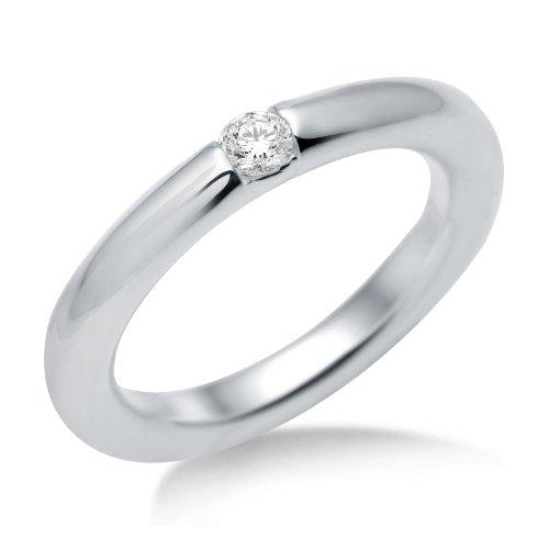Miore Damen-Ring 925 Sterling-Silber Zirkonia Solitär MSM091RR