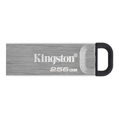 Kingston DataTraveler Kyson Unidad Flash USB3.2, 256GB-con Elegante Carcasa metálica sin capuchón