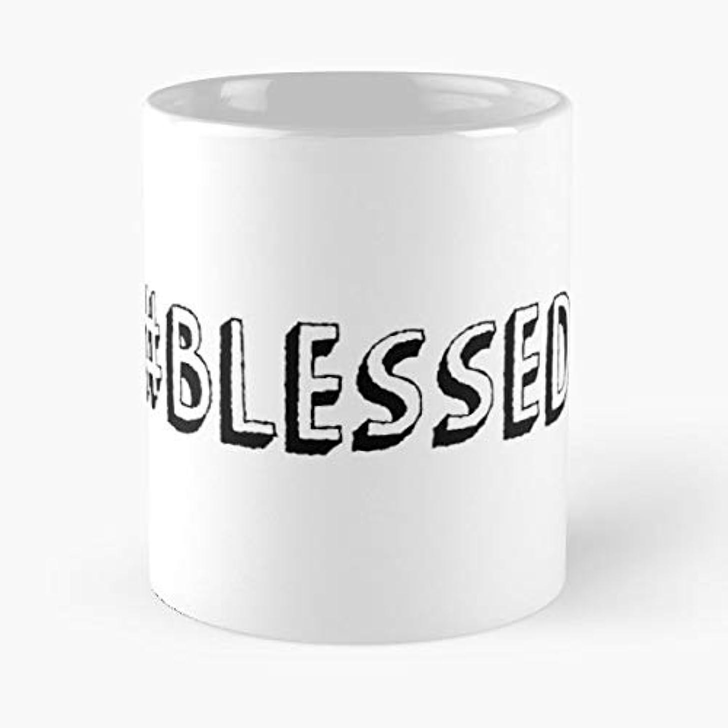 Positive Blessed Hashtag Minimal - Morning Coffee Mug Ceramic Novelty, Funny Gift
