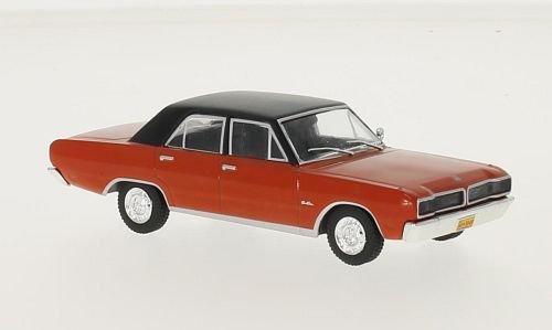 Dodge Charger R/T, rouge/noire, 1975, voiture miniature, Miniature déjà montée, WhiteBox 1:43