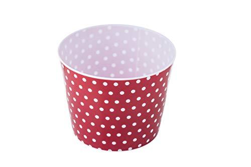 Fantastic Deal! Tablecraft Popcorn/Snack Bucket, 7.25 diameter x 5.75 depth, Polka Dot