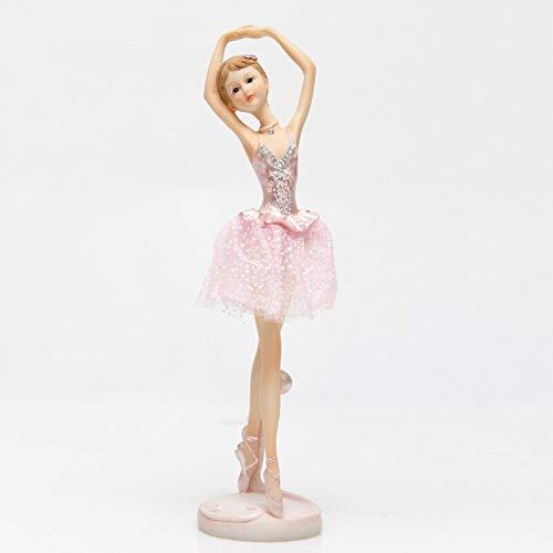 tuin buiten beelden ontwerp kunst Ballet meisjes engel meisje miniatuur ornamenten bureau taart boekenplank huis sculpturen ambachten