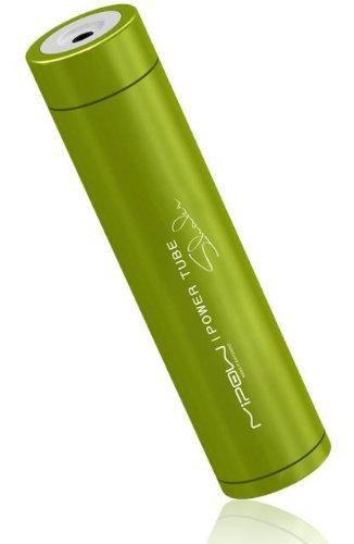 MiPow SP2600-GN PowerTube 2600 shake mobiler Ersatzakku (2600mAh) für Smartphones / MP3-Player / Navigationsgeräte / portable Spielekonsolen mit Ladezustandsanzeige grün