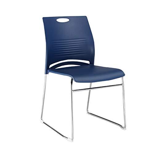 Cómoda silla de invitados-ChangSQ Aula, silla del Presidente Formación Aprendizaje apilable de plástico aula Estudiante Personal de la Oficina durable fácil de limpiar simple silla Material de oficina