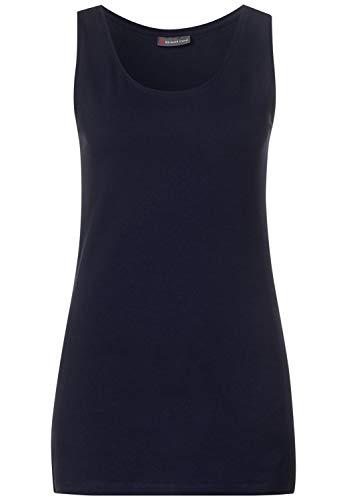 Street One Damen Top mit Baumwolle deep Blue 44