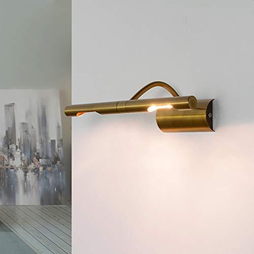 Elegante Bilderlampe in Bronze 2x G9 B:29cm klassisches Design Bilderleuchte Wandlampe Wohnzimmer