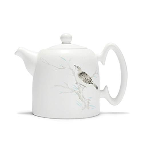 Ceramic Teapot Ceramic Teapot Ink Color Landscape Decal White Porcelain Teapot for Bulk Tea Tea Pot for Loose Leaf Tea (Color : White, Size : 260ml)