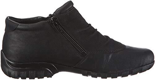 Rieker Damen L4691 Kurzschaft Stiefel, Schwarz (schwarz/schwarz / 01), 39 EU