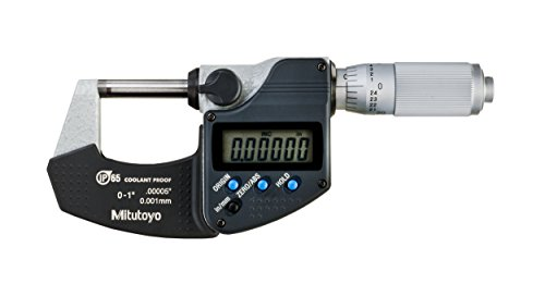 Mitutoyo 293-348-30 Digimatic Micrometer, IP65, 0-1'