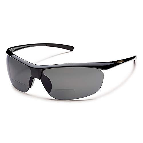 Urbanium Eyewear Sportsonnenbrille mit Sehstärke Modell Nizza mit polarisierten Gläsern in schwarz mit Addition +2.00