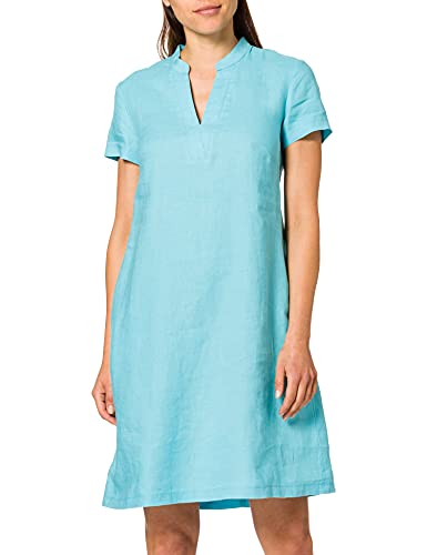 Taifun Womens Kleid Gewebe Dress, Blue Curacao, 36
