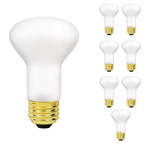 Sterl Lighting - Pack of 8 R20 Frosted Flood Light Bulbs, 45 Watts, 120 Volts, E26 Base, 2700K, 240 Lumens
