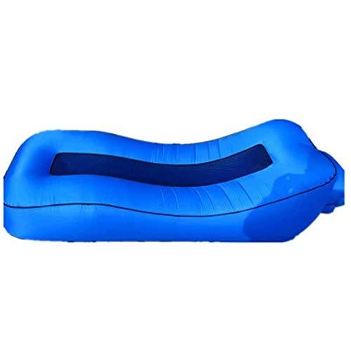 Zhangmeiren Hamac Gonflable Lit D'air Portable Canapé D'air Gonflable Extérieur Paresseux Personne Bureau Pause Déjeuner Lit Coussin En Lin (Color : B)