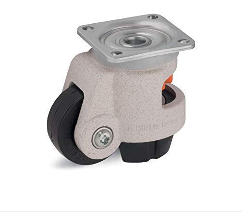 Nivelador Castor 45mm Ruedas - Blickle Castor 180kg Capacidad Hrp-Poa 45g