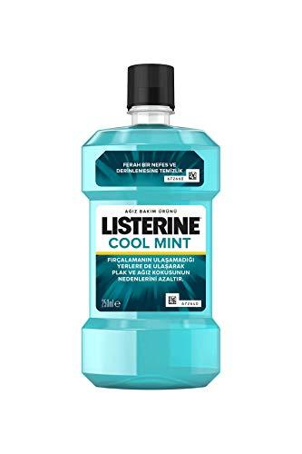 LISTERINE Cool Mint 250ml - Enjuagues bucales (250 ml, Eucalyptol 0.092%, Menthol 0.042%, Methyl salicylate 0.060%, Thymol 0.064%, Water, Alcohol, 1 pieza(s))