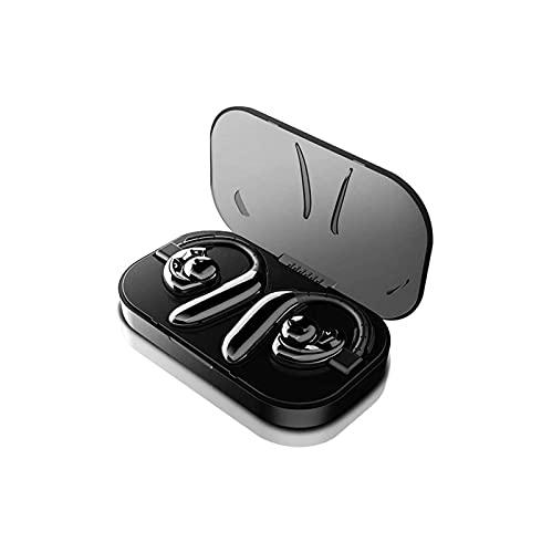 KSDCDF Auriculares inalámbricos Teléfonos, auriculares Bluetooth 5.0 en la oreja con graves adicionales, micrófono incorporado, control táctil, USB Caja de carga, auriculares de batería de 24 horas, i