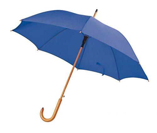 Ten paraplu blauw met houten handvat automatische cod.EL21015 cm 89h diam.105 by Varotto & Co.