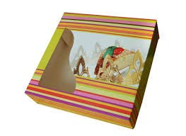 Extra Grande Caja para Roscón de Reyes 10 Unidades 40 cm x 40 cm, Caja Repostería