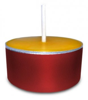 Teelichter aus 100% Bienenwachs in roten Aluhüllen 22 Stück