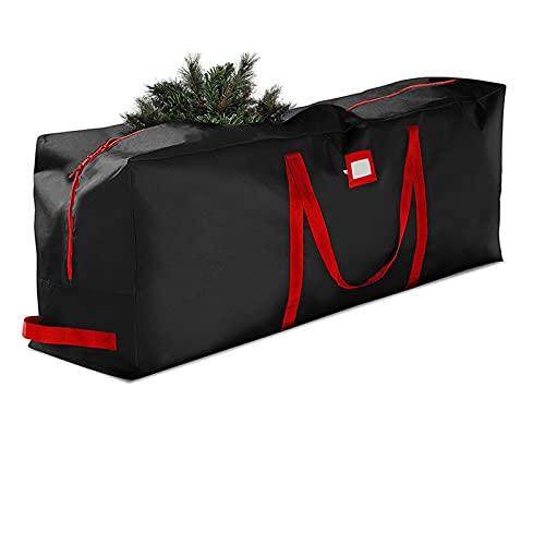 Bolsa de almacenamiento de árboles de Navidad, Navidad y cremallera dual Protección superior - Bolsa de lona de contenedor extra grande se adapta a un árbol artificial de navidad de hasta 9 pies de al