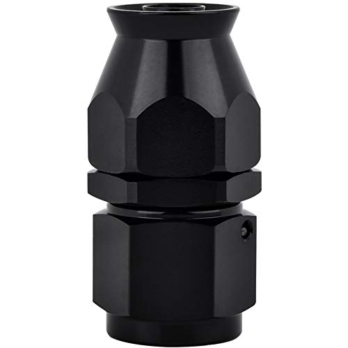 EVIL ENERGY AN6 6AN Straight PTFE E85 Hose End Only for PTFE Oil Fuel Line Fitting Adapter Black