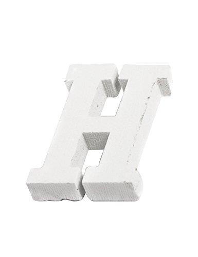 Generique - Lettera in Legno Bianco H 5 cm Taglia Unica