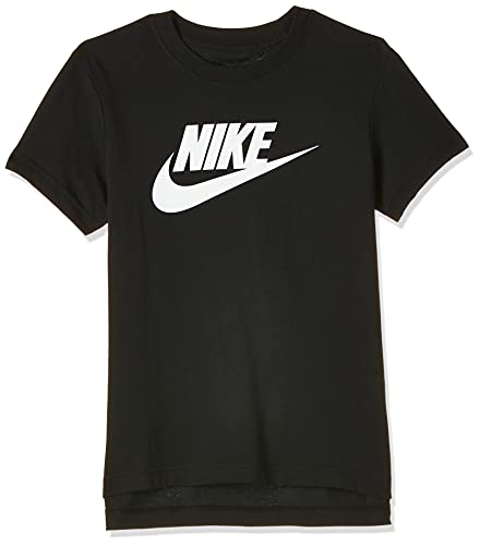 NIKE G NSW tee Dptl Basic Futura Camiseta, Niñas, Negro (Black/White), XL